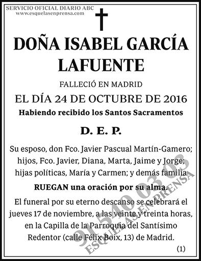Isabel García Lafuente
